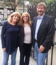 Paw Project Founder and Director Dr. Jennifer Conrad, Assemblymember Linda Rosenthal, and Paw Project Assistant Director Jim Jensvold