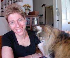 Dr. Margie Scherk with a feline friend